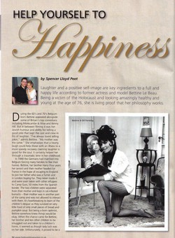 Click this image to see a larger version of the article from High Spirit Magazine featuring Bettine Le Beau