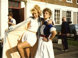 Left to Right: Carla De Wansey, Vicky Facey (nurse uniform) and Johnny Hutch in the background.