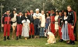 Benny, Vicky, Sue, Lorraine and the girls with The Red Arrows.